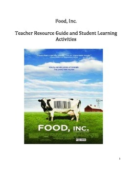 Science Video Guide/Resource - Food Inc.