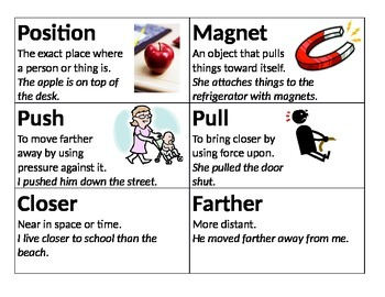 Science Vocab Cards - Force, Motion & Energy
