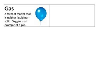 Science Vocab Cards - Matter & Energy