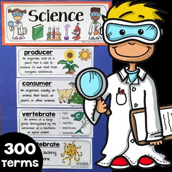 Science Word Wall, Science Vocabulary & Science Interactive Notebook Inserts