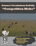 Science Vocabulary Activity - Competition Niche