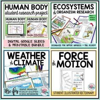 Science Illustrated Student Activity Notebooks Bundle Student Uppergrades
