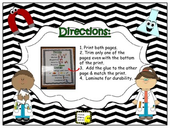Science Vocabulary Anchor Chart~ Forces & Energy