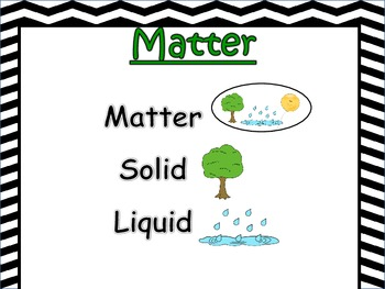 Science Vocabulary Anchor Chart~ Matter