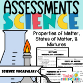 Science Vocabulary Assessments 3rd Grade Matter and Mixtures