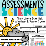 Science Vocabulary Assessments 3rd Grade Weather, Water Cycle
