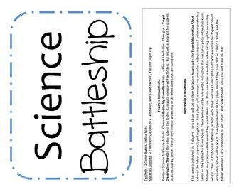 Science Vocabulary Battleship