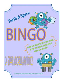 Science Vocabulary Bingo 8th Grade Reporting Category 3