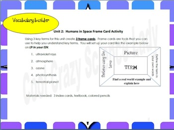 Science Vocabulary Builder Activity