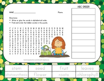 Science Bundle - Word Search with ABC Order