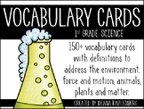 Science Vocabulary Cards {1st Grade}