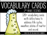 Science Vocabulary Cards {2nd Grade}
