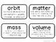 Science Vocabulary Cards {4th Grade}