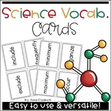 Science Vocabulary Cards 50% OFF for 48 hours
