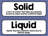 Science Vocabulary Cards Electricity and Matter