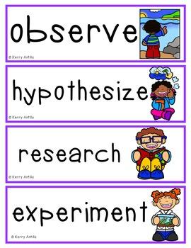 Science Vocabulary Cards First Grade