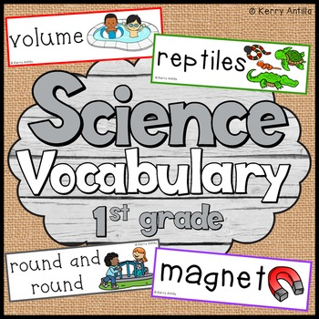 Science Vocabulary Cards First Grade