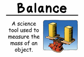 Science Vocabulary Cards: Getting Ready for Science