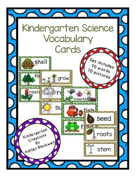 Science Vocabulary Cards-Kindergarten