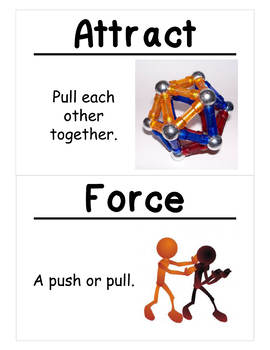 Science Vocabulary Cards: Motion (Large)