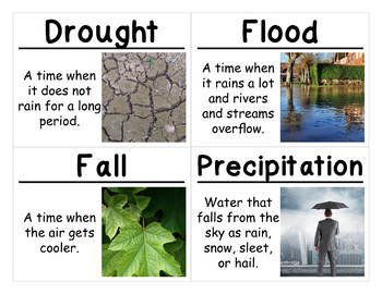 Science Vocabulary Cards: Weather