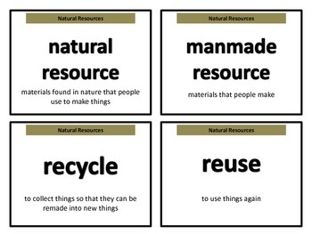 Science Vocabulary Cards for 2nd grade