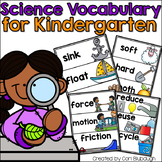 Science Vocabulary Cards for Kindergarten