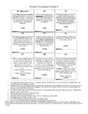 Science Vocabulary Contract 2