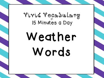 Science Vocabulary Daily Activities: Weather