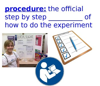 Science Vocabulary: Experiment