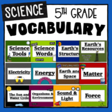 Science Word Wall Vocabulary Posters- 5th Grade TEKS