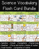 Science Vocabulary Flash Cards for the Entire School Year!