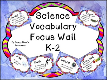 Science Vocabulary Focus Wall