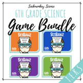 Science Vocabulary Games for 6th Grade - SciBanz BUNDLE  Full Year Review {TEKS}
