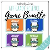 Science Vocabulary Games for 6th Grade - SciBanz BUNDLE  F