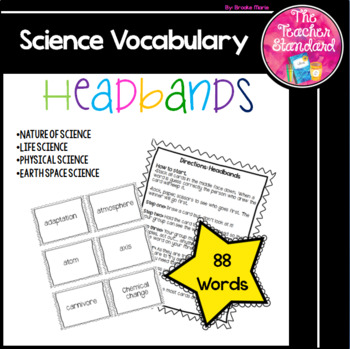 Science Vocabulary Headbands