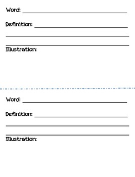 Science Vocabulary Journal