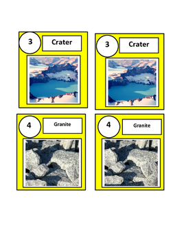 Science ESL-Dyslexia: Vocabulary Picture-Word Match- Volcanoes