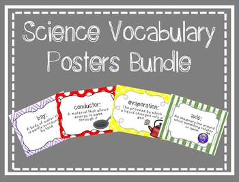 Science Vocabulary Posters {Growing} Bundle