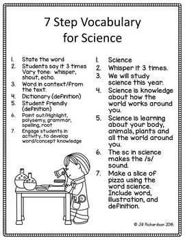 ESL Vocabulary - Science Posters for ESL Activities