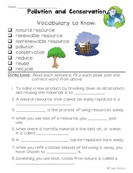 Science Vocabulary Practice 3rd Grade Georgia Cloze Activities