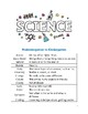 Science Vocabulary - Prekindergarten to 2nd Grade