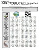 Science Vocabulary Puzzles & Sort #4 (wordsearch, criss-cross, cryptogram)