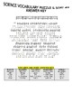 Science Vocabulary Puzzle & Sort #6