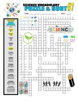 Science Vocabulary Puzzle & Sort #7