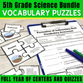5th Grade Science Vocabulary Puzzles BUNDLE | Print and Digital