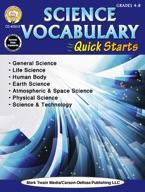 Science Vocabulary Quick Starts, Grades 4 - 9