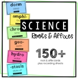 Science Vocabulary Roots & Affixes - YEAR LONG - Word Wall