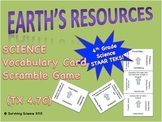 Science Vocabulary Scramble: Earth's Resources (TX TEKS 4.7C)