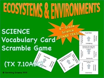 Science Vocabulary Scramble: Ecosystems and Environments (